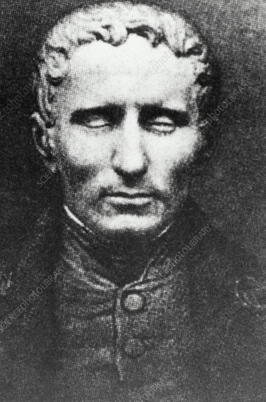 Portrait of the French educationist, Louis Braille