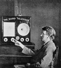 J.L. Baird with his invention, the 'Televisor'
