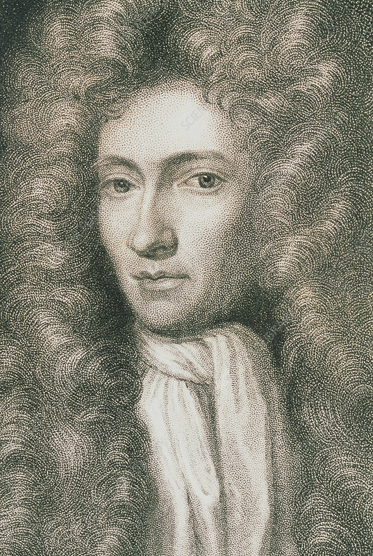 Portrait of the Irish chemist Robert Boyle