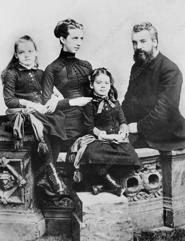 Alexander Graham Bell and family