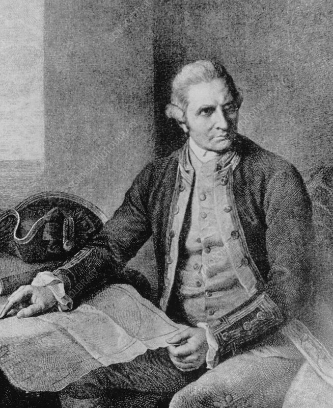 Engraving of Captain James Cook