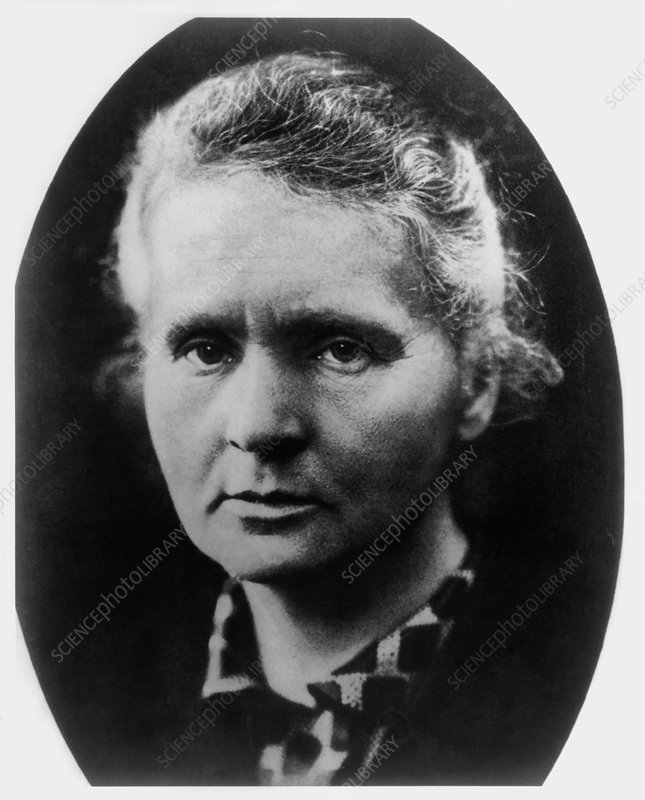 The Polish-French chemist Marie Curie