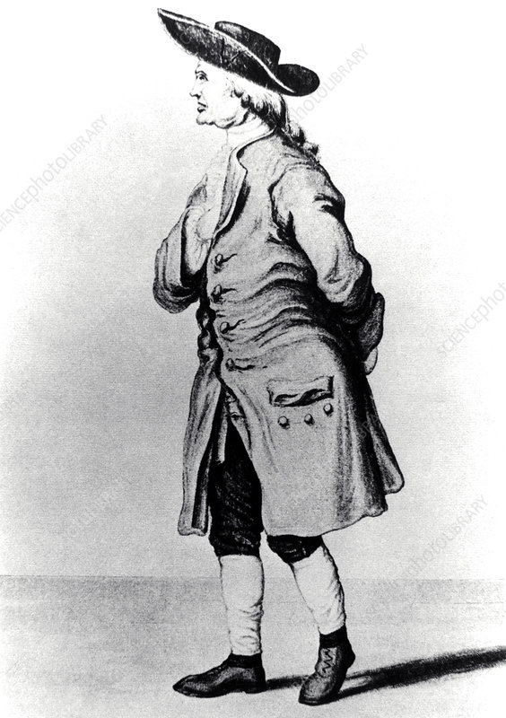 Drawing of British chemist Henry Cavendish