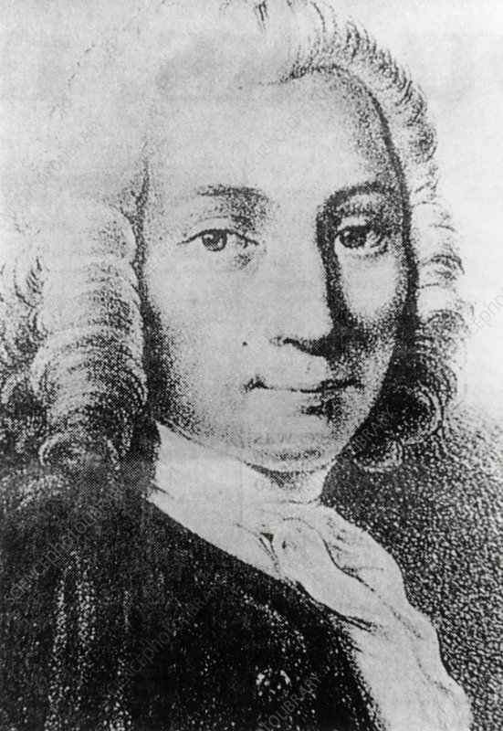 Portrait of Anders Celsius, Swedish astronomer