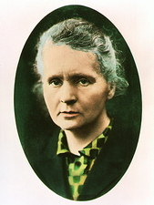 Portrait of radiochemist, Marie Curie