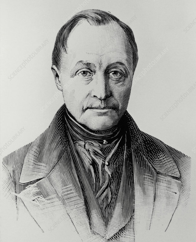 Engraving of Auguste Comte, French philosopher