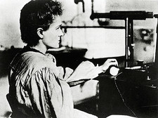 Marie Curie measuring radioactivity in 1897-1899