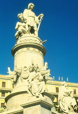Statue of Christopher Columbus in Genoa, Italy