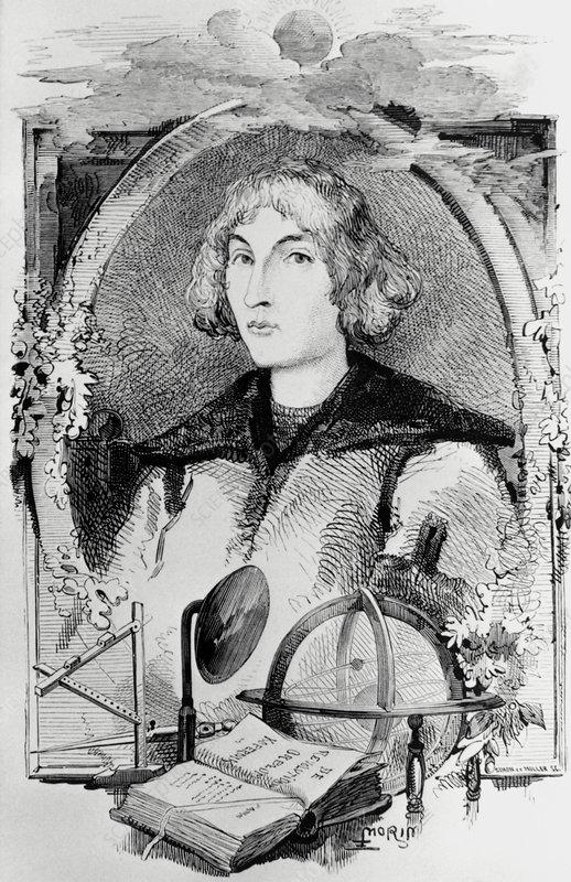 Portrait of Polish astronomer Nicolaus Copernicus - Stock ...