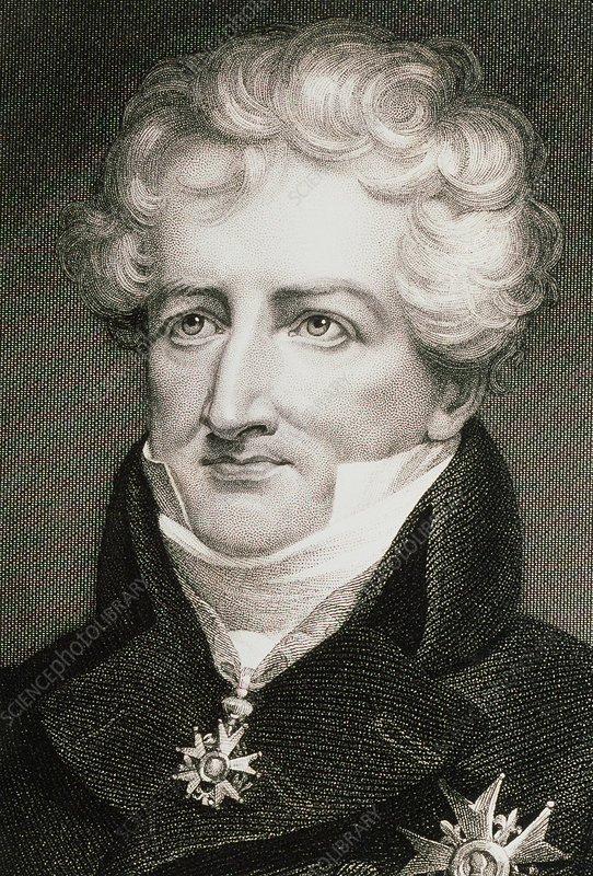 Portrait of French zoologist Georges Cuvier