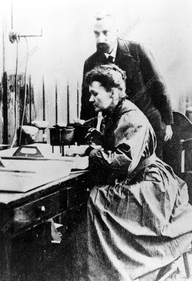 Marie and Pierre Curie, French physicists