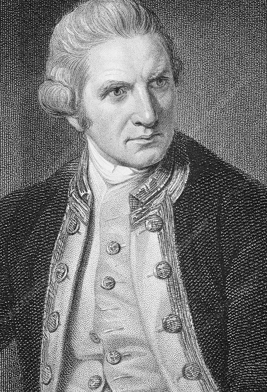 how to draw captain james cook step by step