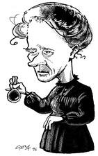 Marie Curie, caricature