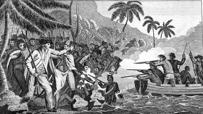 Death of Captain James Cook, Hawaii, 1779