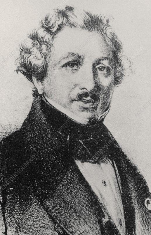 Pencil portrait of Louis Daguerre