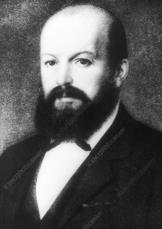 Portrait of German inventor, Gottlieb Daimler