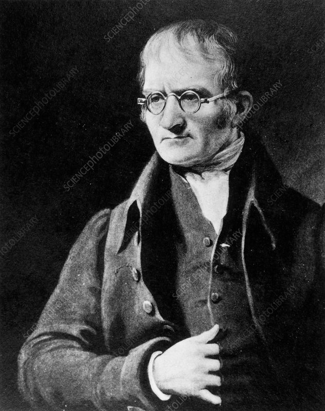 English meteorologist and chemist, John Dalton