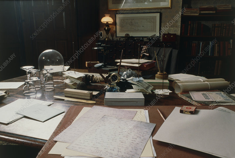 View of Darwin's desk at Down House