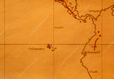 The Galapagos Islands seen on one of Darwin's maps