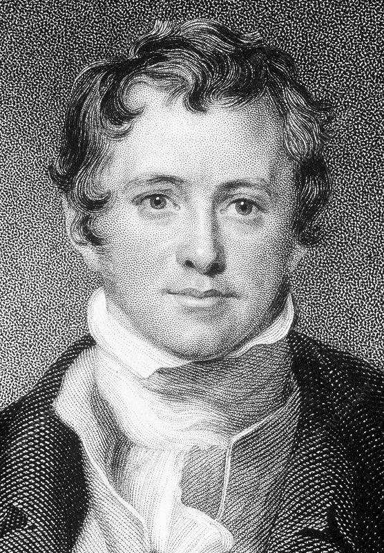 Portrait of the English chemist Humphry Davy