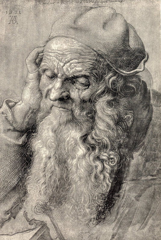 Old man, art by Durer