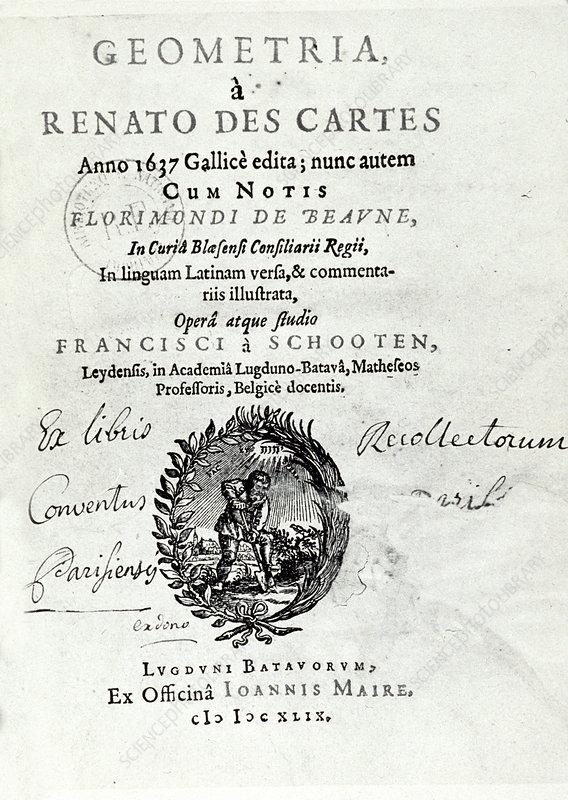 Geometria by Rene Descartes, 1639