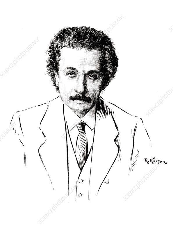 Albert Einstein, after a portrait by Kastor