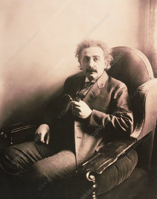 Portrait of Albert Einstein in middle age (1920)