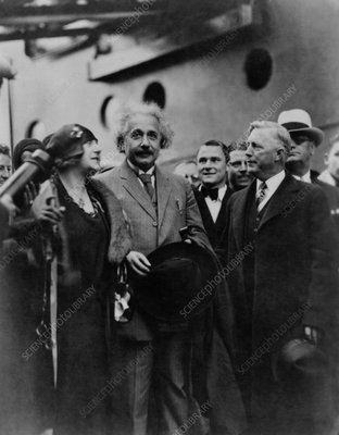 Photo of Albert and Elsa Einstein, San Diego, 1930
