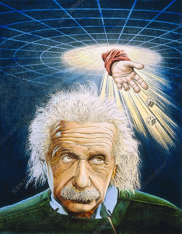 Artwork of the physicist A. Einstein