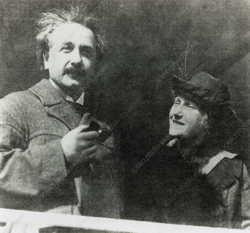 Photo of Albert and Elsa Einstein, 1921