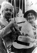 Photo of Albert and Elsa Einstein, 1920s