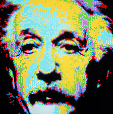 Computer artwork of Albert Einstein