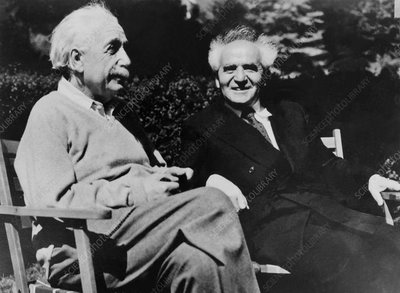 Albert Einstein and David Ben-Gurion