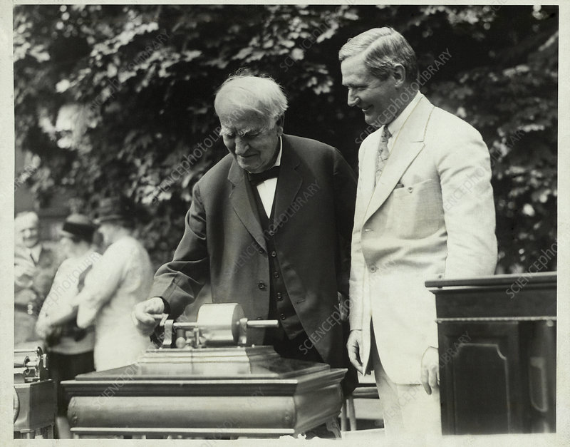 Edison and his phonograph