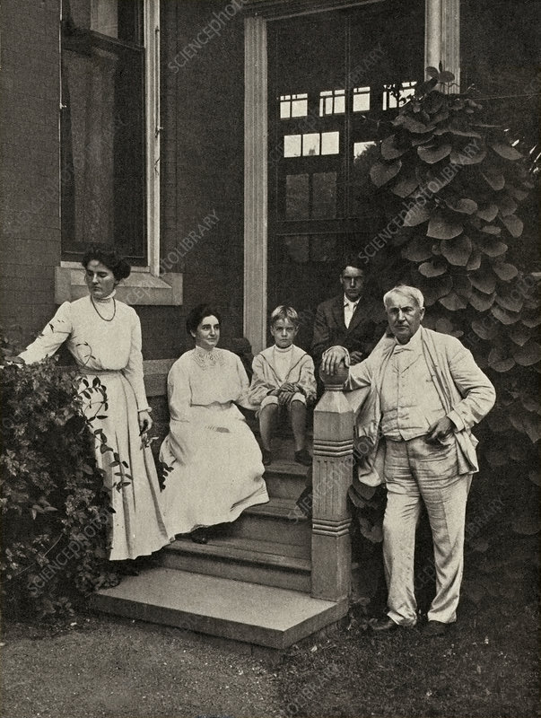 Family of Thomas Edison, US inventor