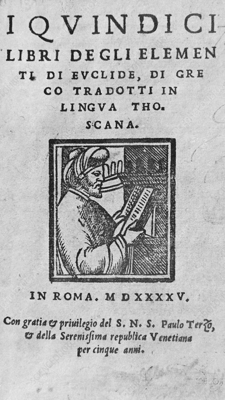 Portrait of Euclid on a Roman Book