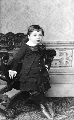 Young Albert Einstein, German physicist