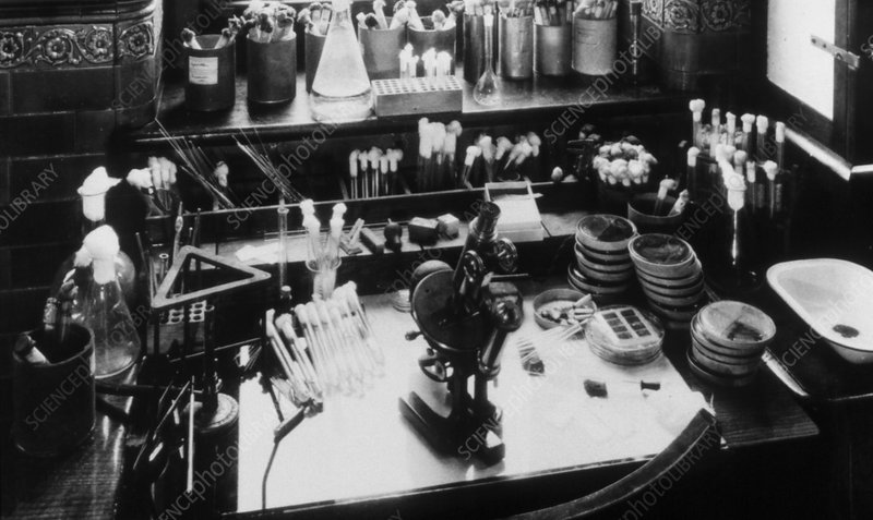 Sir Alexander Fleming's laboratory