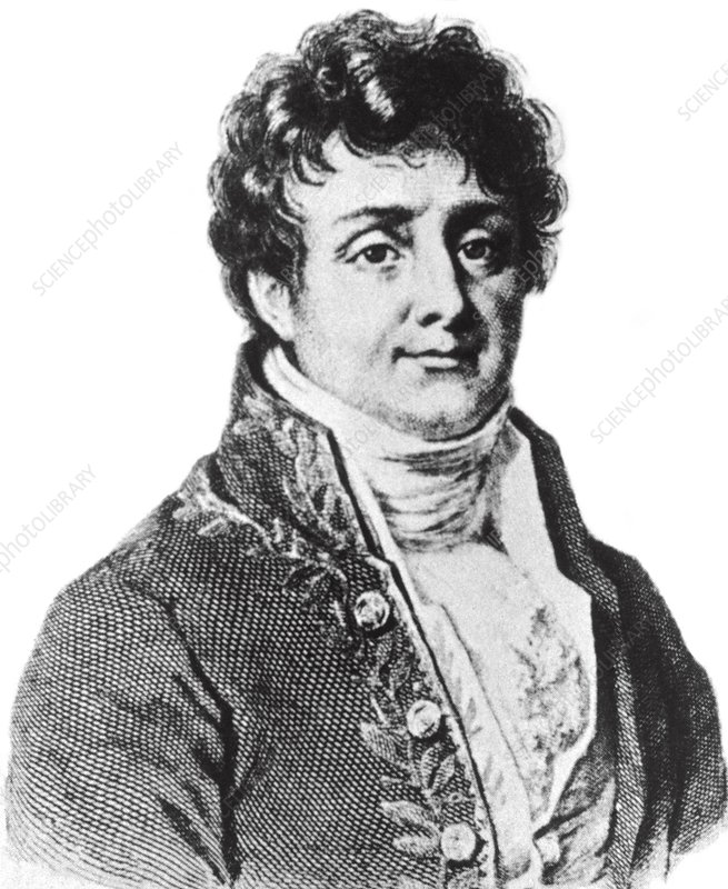 Portrait of Jean Baptiste, Baron Fourier