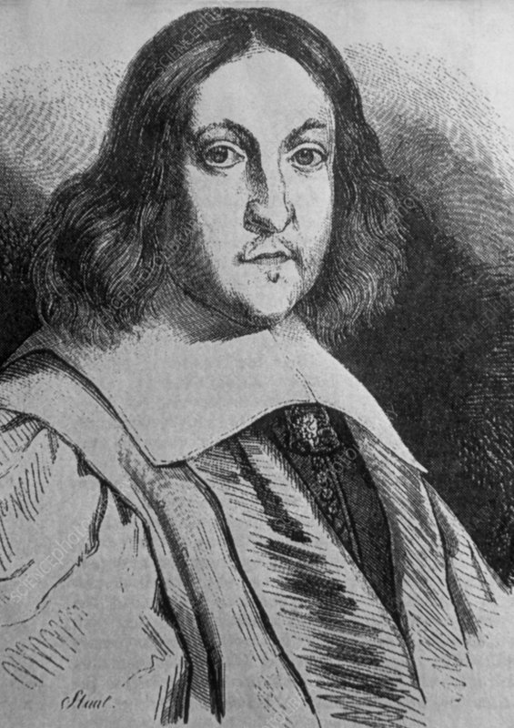 Portrait of the French mathematician P. de Fermat
