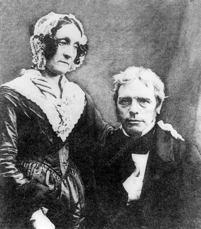 Portrait of Michael Faraday with his wife, Sarah