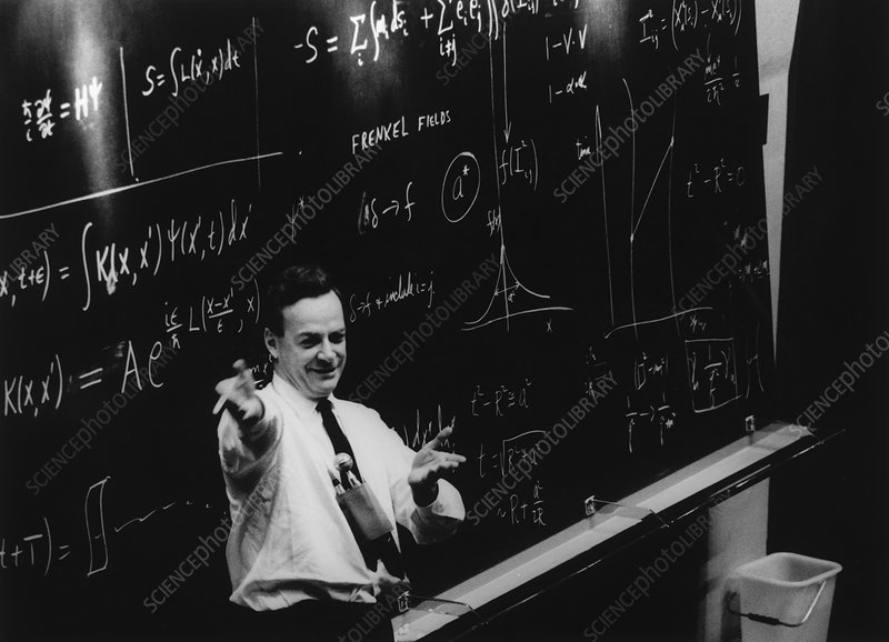Richard Feynman giving a lecture at CERN