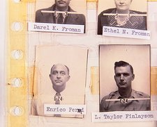 ID photo of Enrico Fermi, Los Alamos