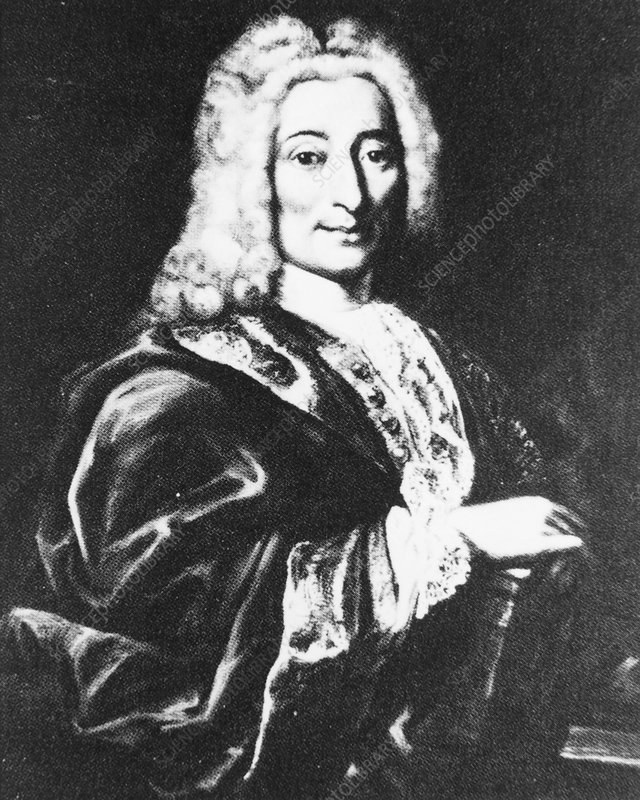 Portrait of the French dentist Pierre Fauchard