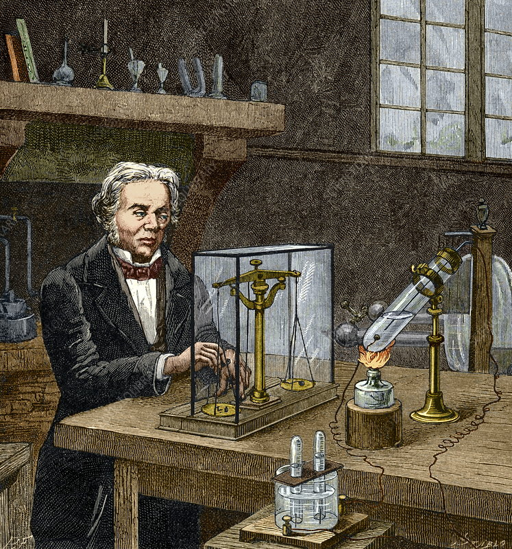 Faraday's electrolysis experiment, 1833