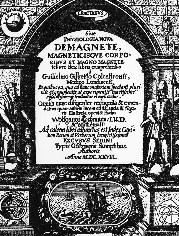Title page of William Gilbert's De Magnete