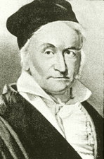 Karl Friedrich Gauss, German mathematician