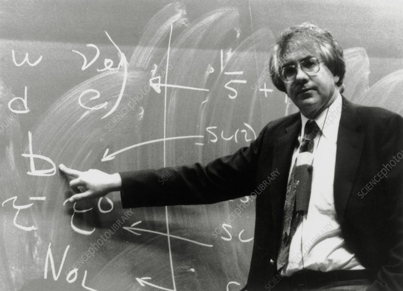 US physicist Sheldon Glashow giving a lecture