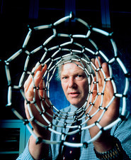 Malcolm Green looking through nanotube model
